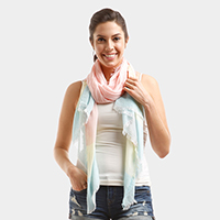 Multi Colored Oblong Scarf