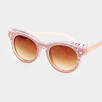 Crystal Embellished Cat Eyes Sunglass