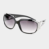 Crystal Embellished Rectangle Sunglass