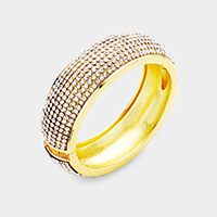 Crystal Rhinestone Pave Hinged Bangle Bracelet