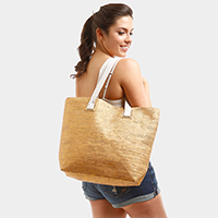 Metallic Beach Tote Bag