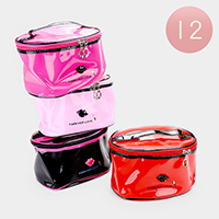 12PCS - Forever Love _ Inside Mirror Cosmetic Bags