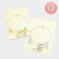 12PCS - Starfish Mermaid Shell Dolphin Metal Charms Bracelets