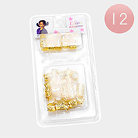 12PACK - Flower Filigree Tube Braids Hair Accessories