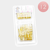 12PACK - Heart Filigree Tube Braids Hair Accessories
