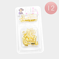 12PACK - Abstract Filigree Tube Braids Hair Accessories