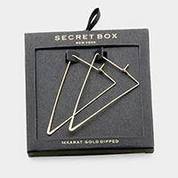 Secret Box _ 14K Gold Dipped Metal Triangle Earrings