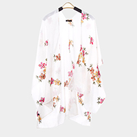 Floral Sheer Cover Up Poncho