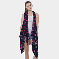 Fox Pattern Cover Up Vest