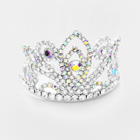 Pave Rhinestone Crystal Princess Mini Tiara