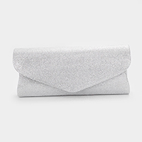 Solid Glittered Envelope Clutch Bag