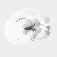 Feather Flower Mesh Fascinator