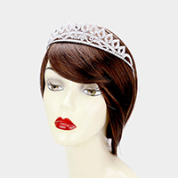 Cubic Zirconia Pave Pageant Queen Tiara