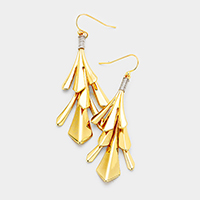 Abstract Metal Dangle Earrings