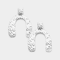 Abstract Textured Metal Earrings