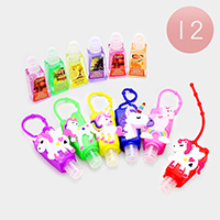 12PCS Unicorn Silicone Hand Sanitizer Holder