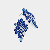 Marquise Crystal Statement Evening Earrings
