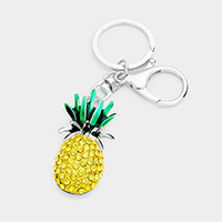 Stone Pave Pineapple Key Chain