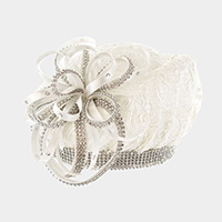 Ribbon Bow Lace Beret Hat