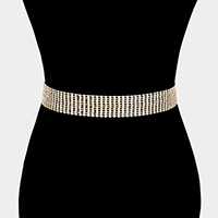 Crystal Rhinestone Pave Chain Belt