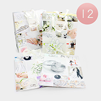 12PCS - Bridal Wedding Print Gift Bags