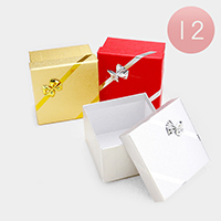 12PCS - Bling Hard Bow Deco Jewelry Gift Boxes