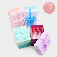 12PCS - Pastel Hard Bow Deco Jewelry Gift Boxes