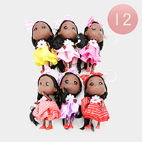 12PCS - Cute Girl Character Key Chain