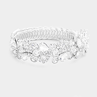 Marquise Crystal Teardrop Cluster Evening Bracelet