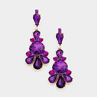 Marquise Crystal Chandelier Evening Earrings