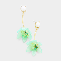 Drop Celluloid Flower Earrings