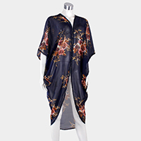 Floral Edge Detail Cover Up Poncho