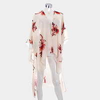 Floral Cover Up Open Poncho