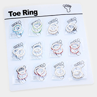 12 Sets of 2 - Crystal Invisible Toe Rings