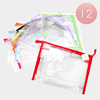 12PCS -Clear Transparent Cosmetic Pouch Bags