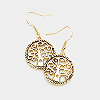 Mother of Pearl Tree of Life Earrings