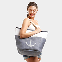 Anchor Beach Tote Bag