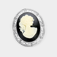 Dual Antique Cameo Pin Brooch / Pendant