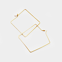 Square Metal Hoop Earrings