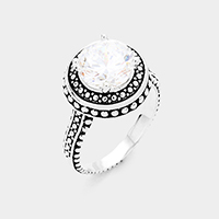 Antique Round Cut Stone Ring