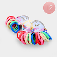 12 Set of 8 - Ponytail Hair Bands and Mermaid Hair Clips