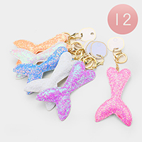 12PCS - Sequin Mermaid Tail Key Chains