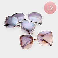 12PCS - Oversized Square Wayfarer Sunglasses