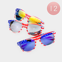 12PCS - Kids American Flag Sunglasses