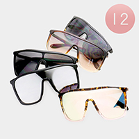 12PCS - Oversized Aviator Sunglasses