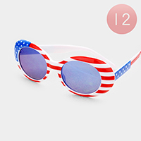12PCS - American Flag Sunglasses
