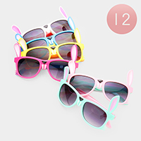 12PCS - Cute Bunny Kids Sunglasses