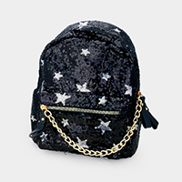 Sequin Star Pattern Kids Mini Backpack Bag