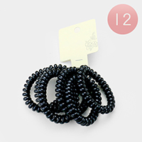 12 Set of 6 - Black Telephone Wire Hair Bands