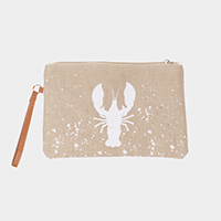 Lobster Print Clutch Bag